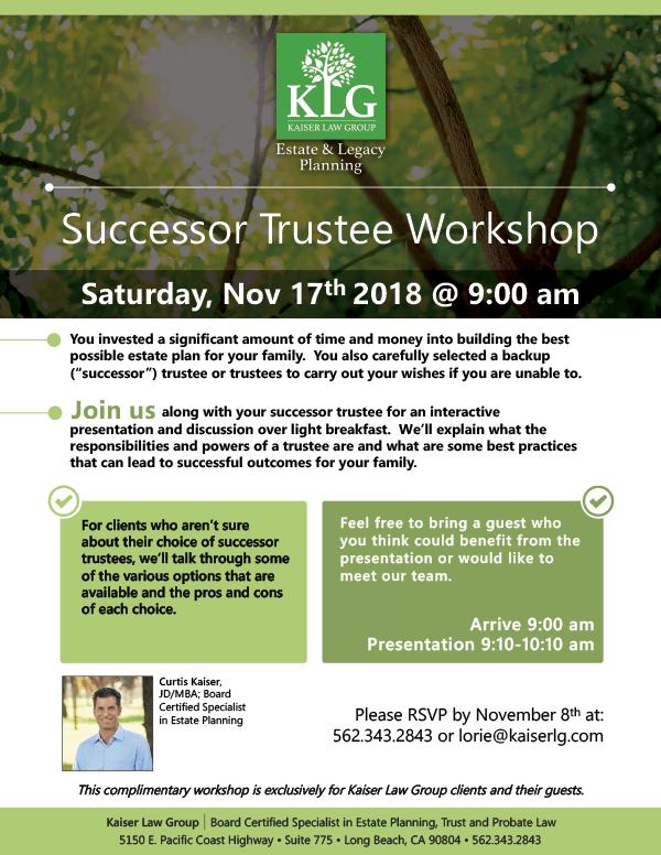 Successor Trust Workshop Nov 17 Flyer